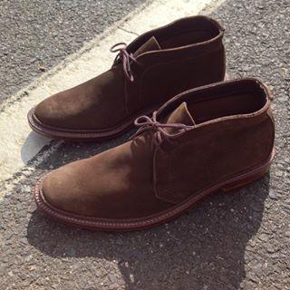 Alden Men S 1492 Unlined Chukka Boot Flex Welt Dark Brown Suede