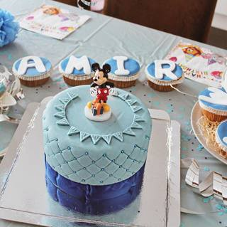 Blaue Deluxe Torte Doppelte Hohe Deinetorte De