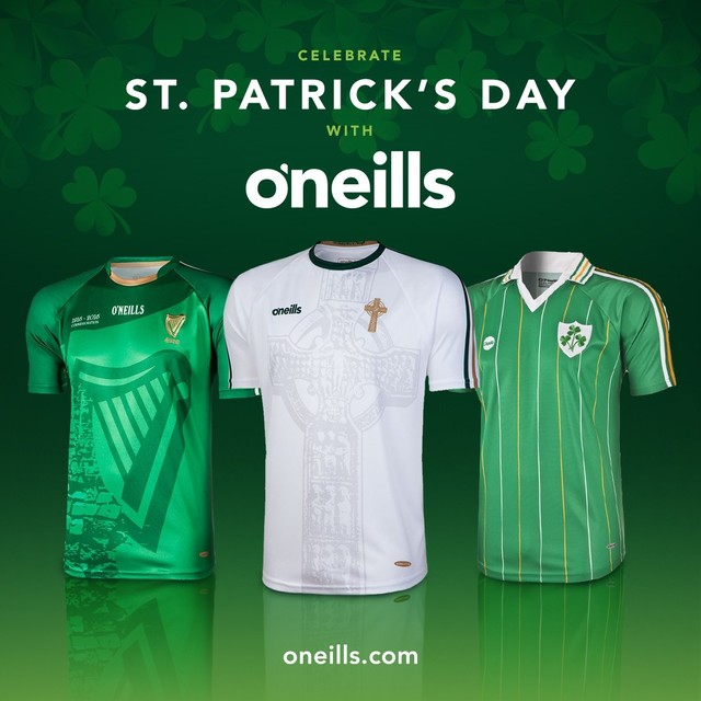 84a75058a St.Patrick s Day 2019 with  oneillssportswear. Go Green!