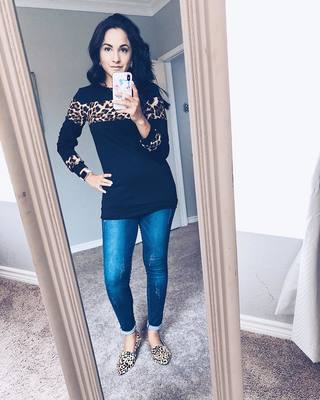 e9e91e745dd6 ... shoes from stevemadden - slightly obsessed with leopard 🖤🖤. Go be a  force to be reckoned with. ❤ Top: audreygraceboutique Jeggings: