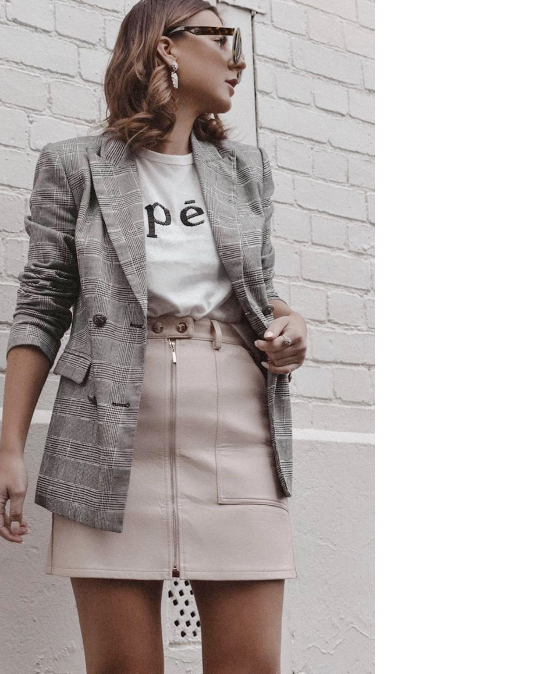 4f44aa5279 SOPHIA. We're obsessed with this dusty pink leather look skirt. Your  wardrobe